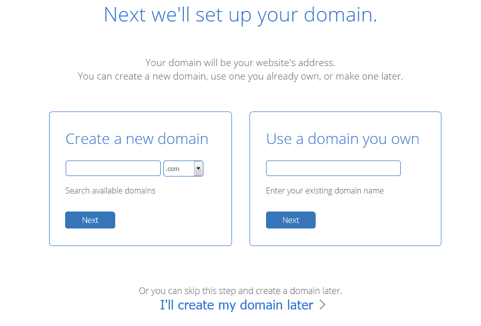 Bluehost domain checkout