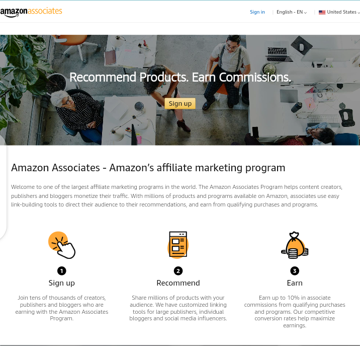 How to make money with affiliate links on Amazon, earn $1,250 monthly  Amazon affiliate link
