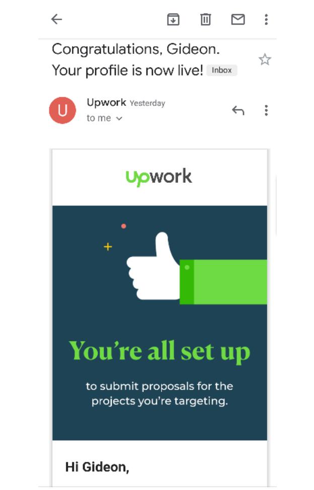 Upwork account verification method