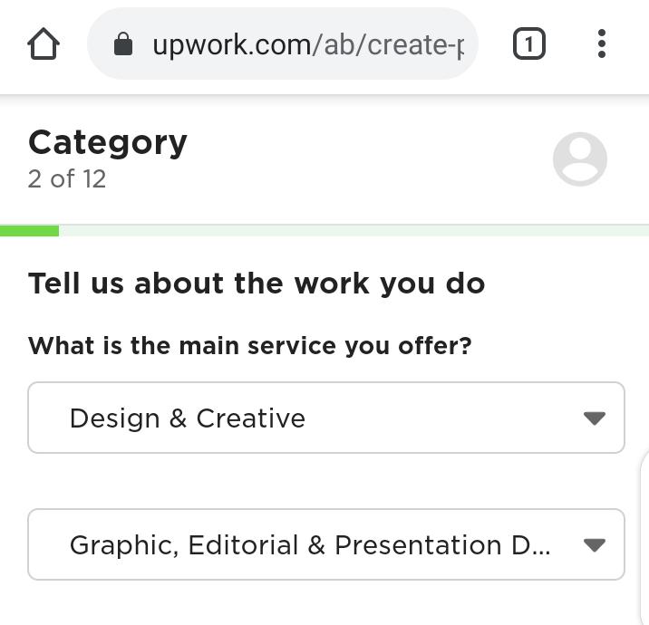 Upwork Profile for beginners