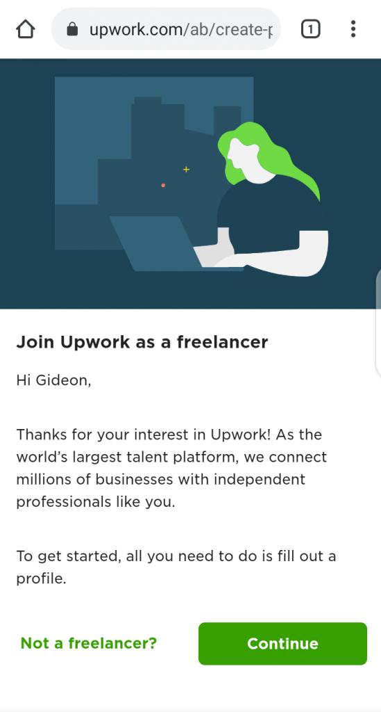Upwork Profile for beginners Create Upwork account