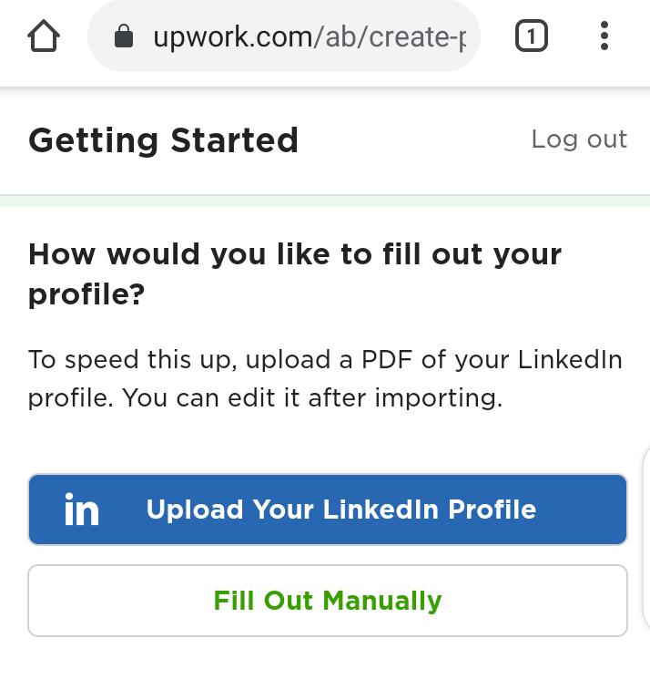 Upwork profile overview sample
