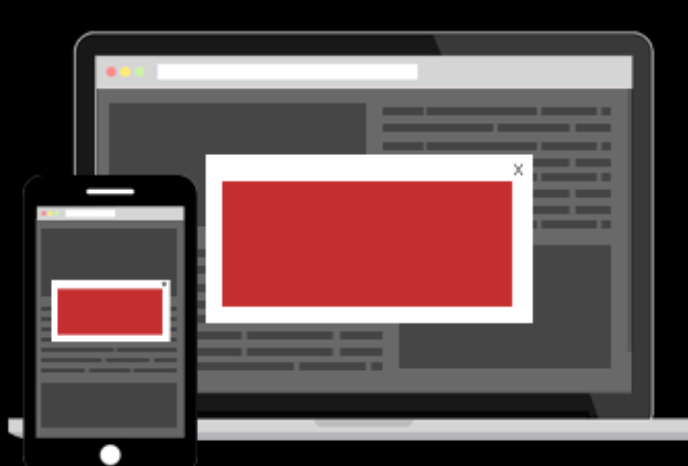 Interstitial ads format